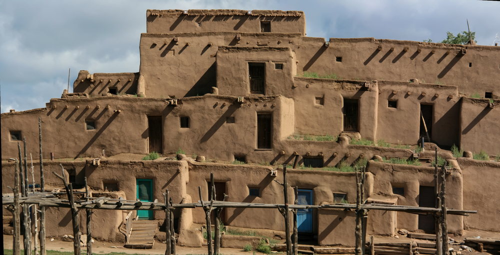 индейское поселение таос пуэбло в нью мексико
