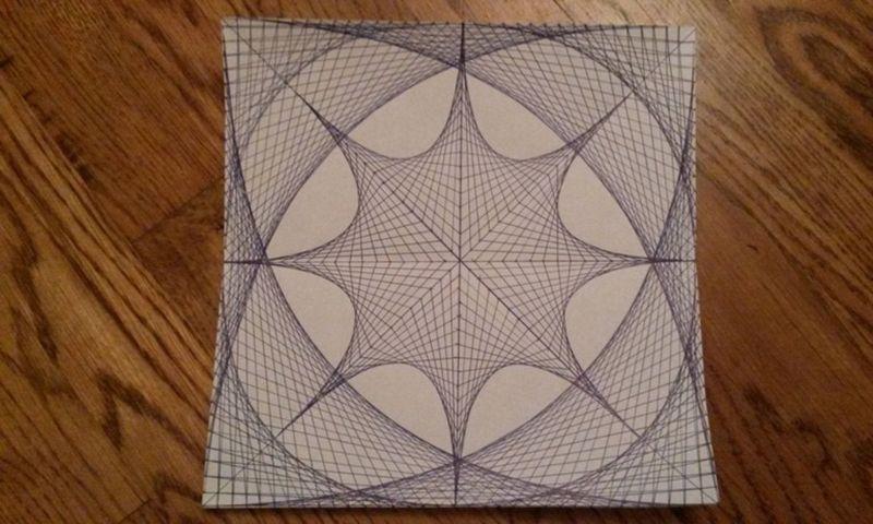 Рисунок из прямых линий