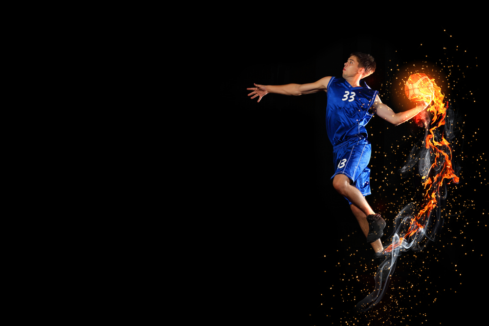 баскетболист с шаром