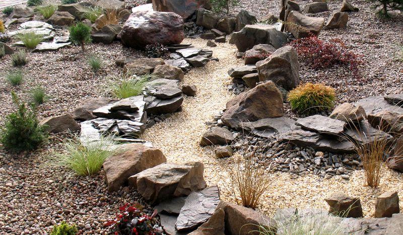 «Сухие ручьи» в ландшафтном дизайне