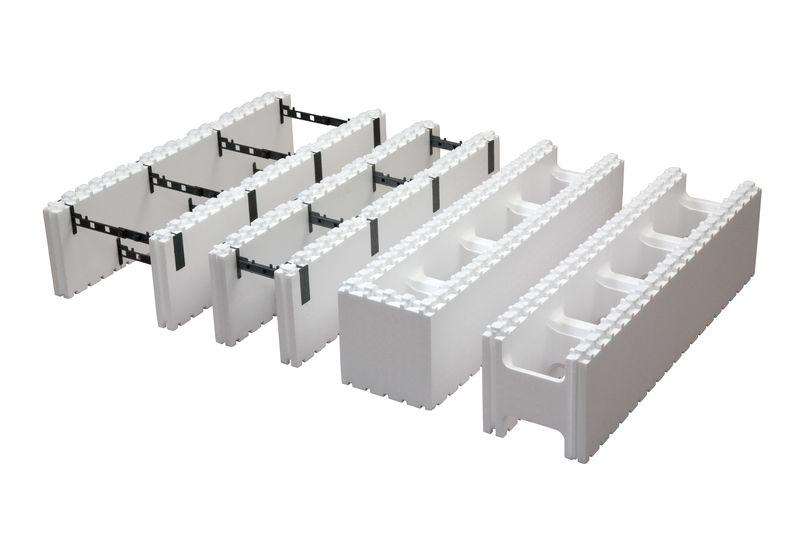 Полые полистирольные блоки