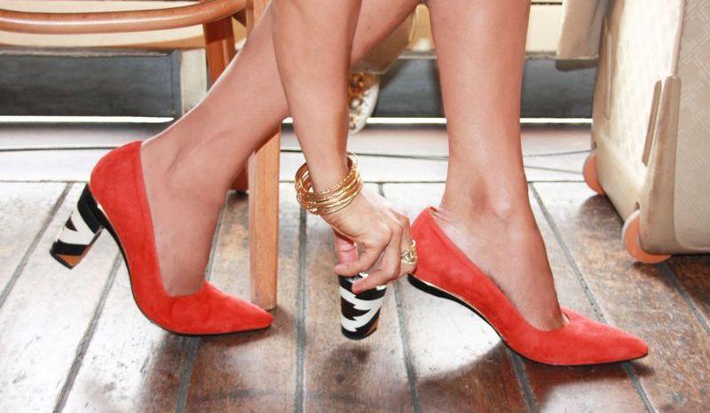 Туфли со съемными каблуками