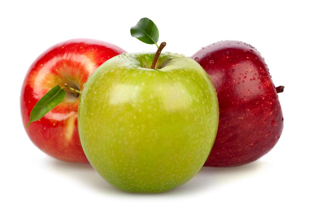 разноцветные яблоки