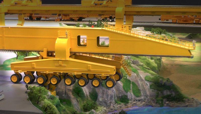 SLJ900/32 Segmental Bridge Launching Machine - машина для укладки мостов