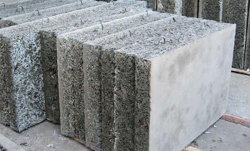 Сверхлегкий бетон из древесного наполнителя