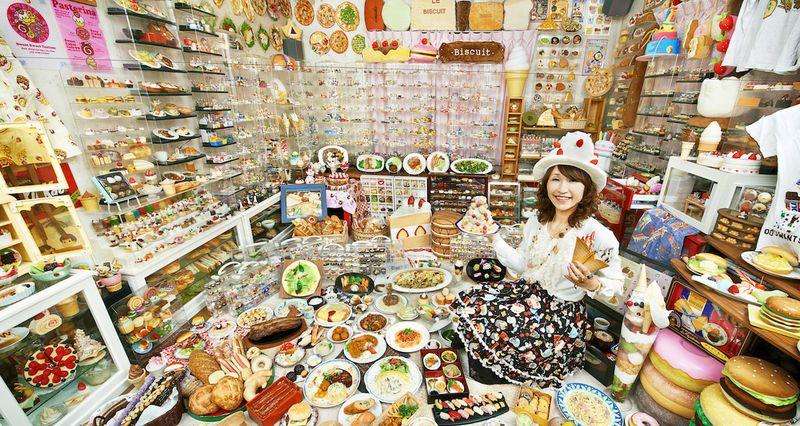 Рекорд: коллекция муляжей различных блюд