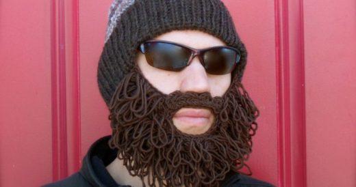 Шапка с бородой на Алиэкспресс