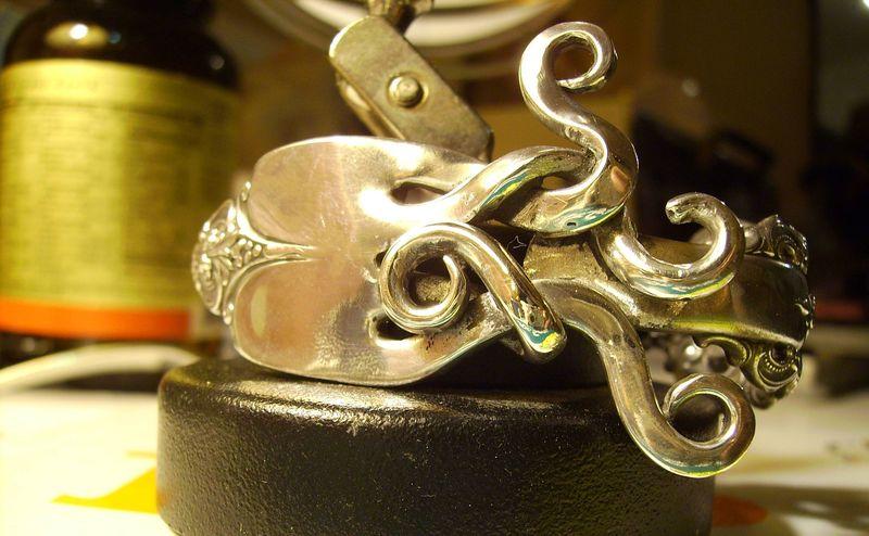 Кольцо из вилки