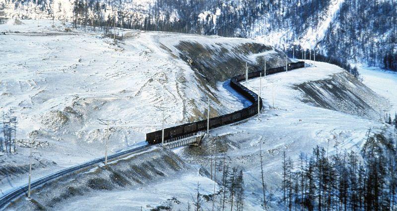 Транссибирская магистраль зимой