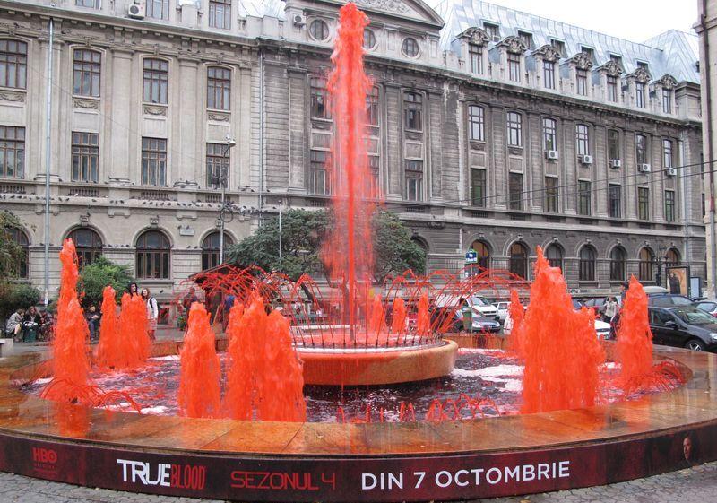 Кровавый фонтан в Великобритании