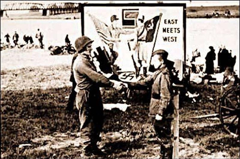 Знаменитая встреча на Эльбе 25 апреля 1945 года
