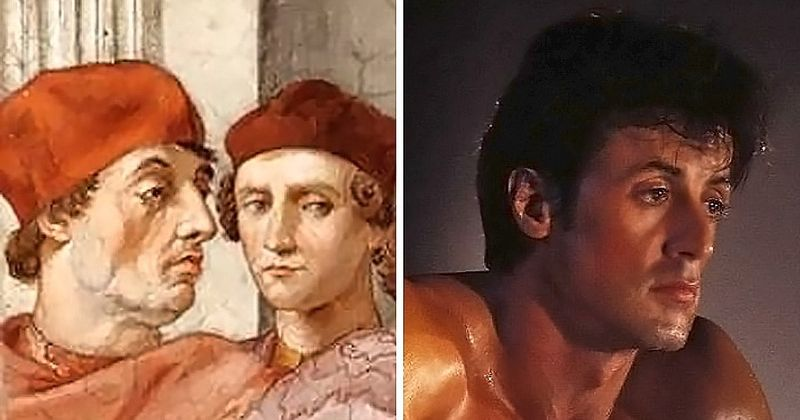 Сильвестр Сталлоне и Папа Римский Григорий IX