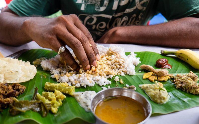 Трапеза в Индии