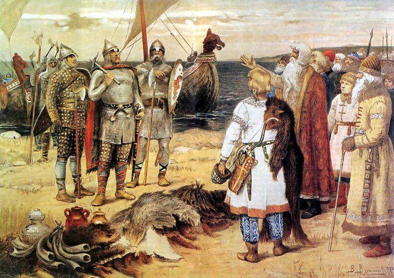 Картина В. М. Васнецова: Призвание варягов