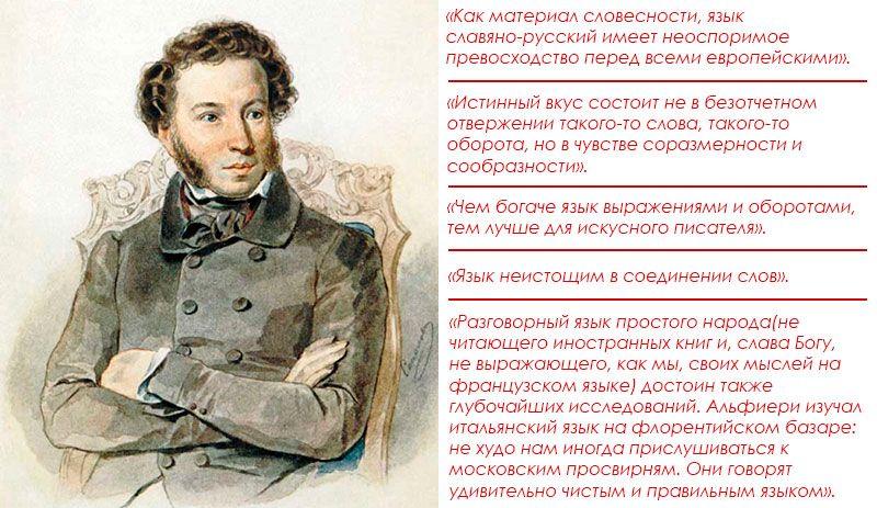А.С. Пушкин о русском языке