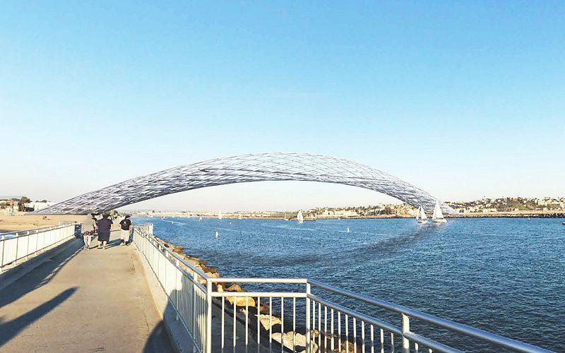 Ажурный безопорный мост