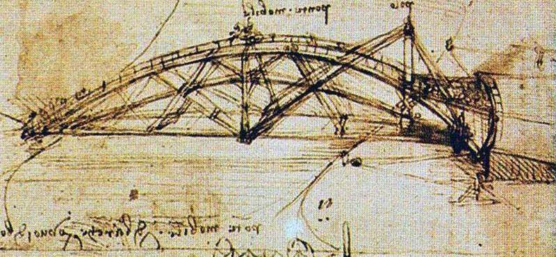 Набросок моста Леонардо да Винчи