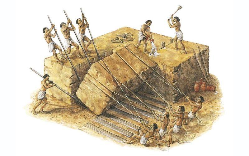 Обработка камня древними египтянами