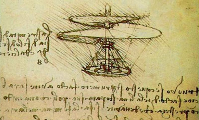 Зарисовки Леонардо Да Винчи