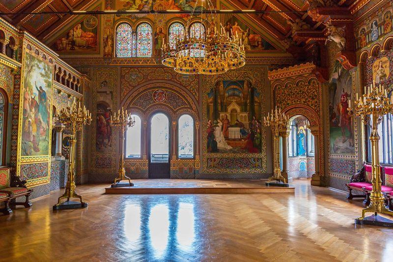 Тронный зал в замке Нойшвайштан