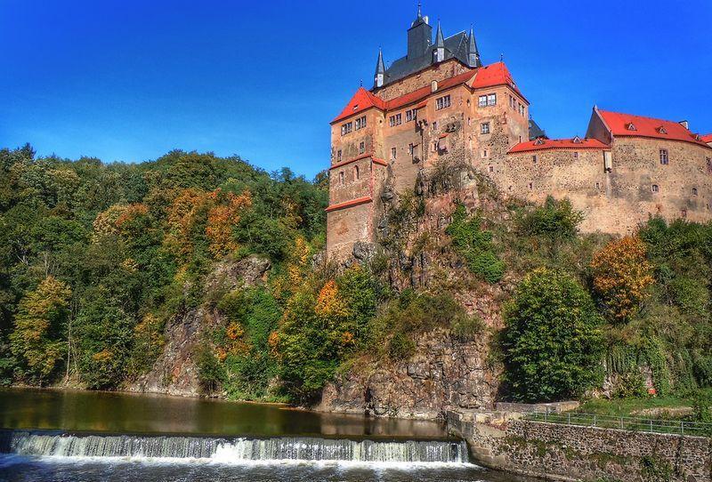 Рыцарский замок Крибштайн