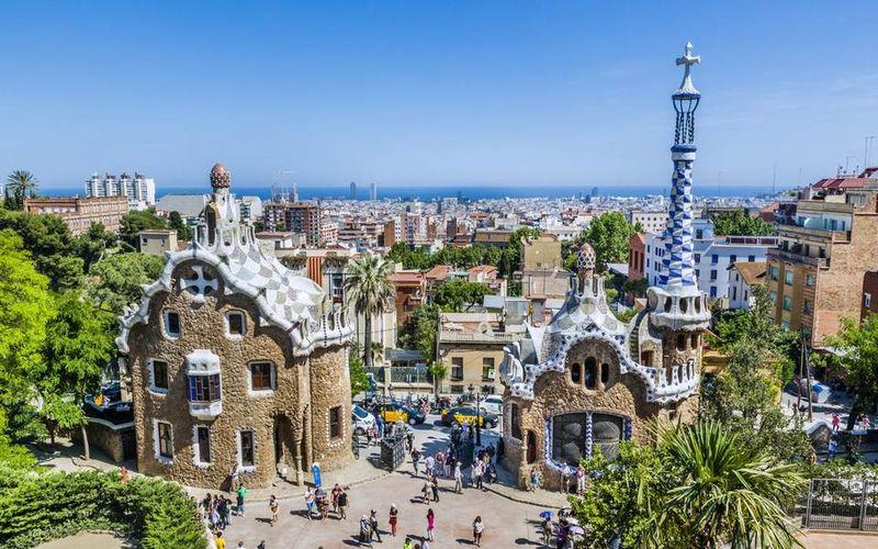 Пряничные домики в Парке Гуэль, Барселона