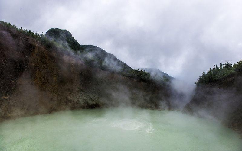 Кипящий Бойлинг-лейк в Доминикане
