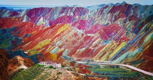 Радужные горы Дэнксия