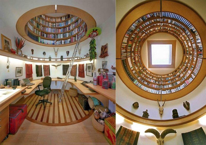 Оригинально устроенная библиотека