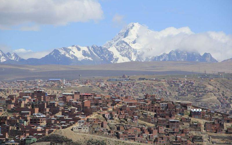 Боливийский город Ла-Пас