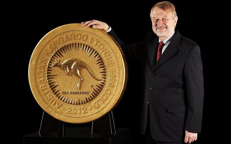 Самая тяжелая монета Tonne Gold Kangaroo Coin