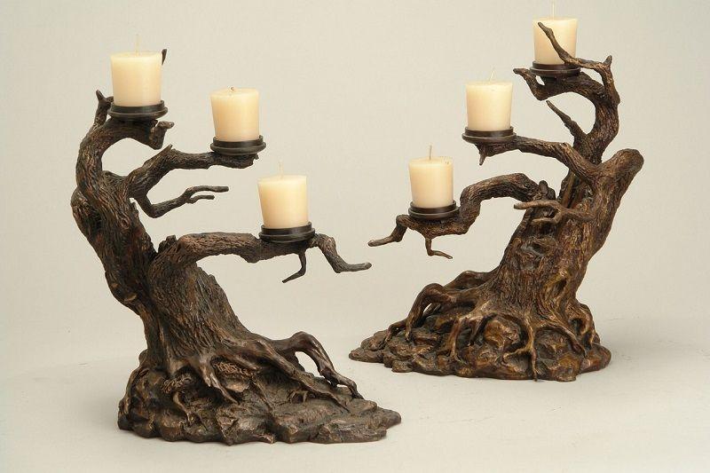 Деревянный декор - подсвечники