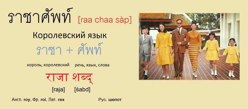 Королевский язык Рачасап