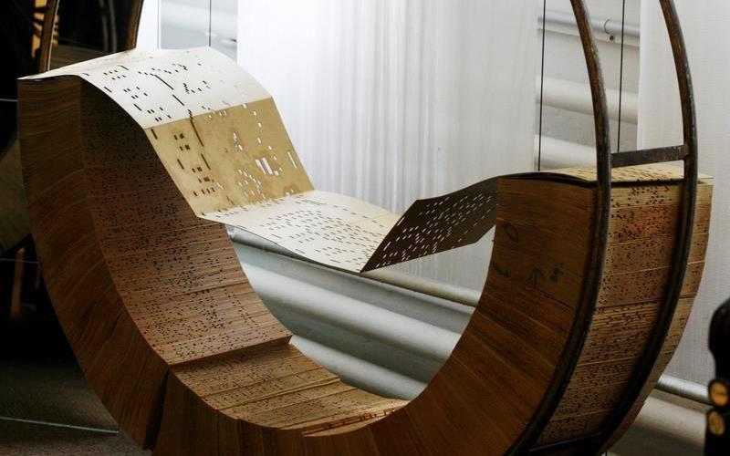 Перфокарты для управления ткацкими станками Жозефа Жакарда