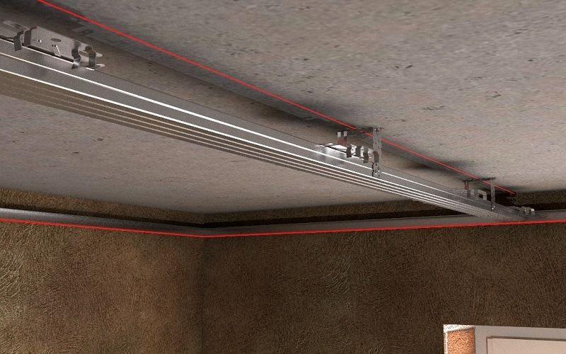 Разметка потолка по периметру стен