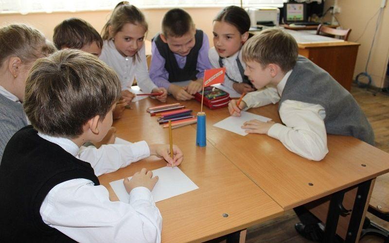 Групповая работа школьников