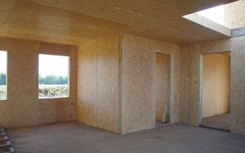 Сборка стен из СИП панелей