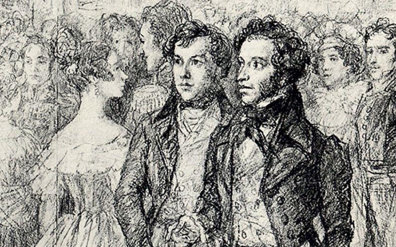 А.С.Пушкин на балу