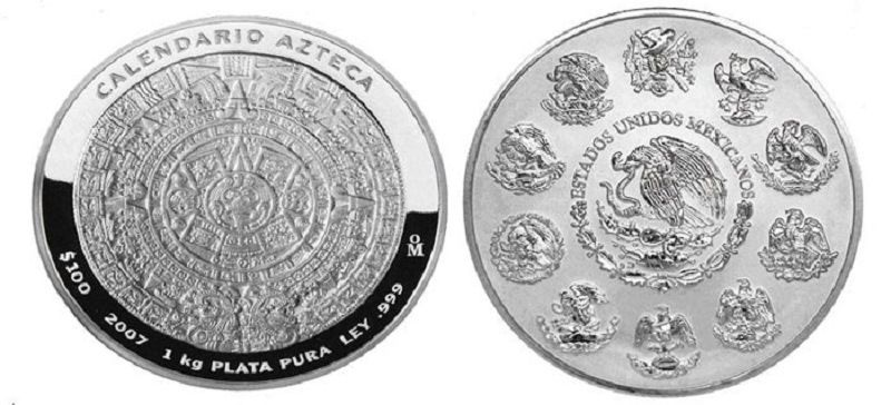 Мексиканская серебряная монета