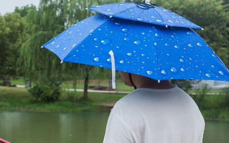 Компактный зонтик на голову
