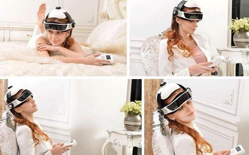 Электрический массажный шлем