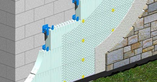 Утепление стен пеноплексом