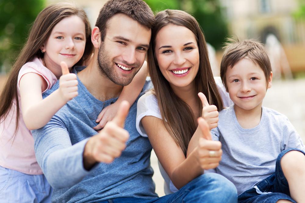 счастливая и крепкая семья