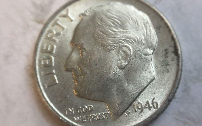 Десятицентовик с изображением Рузвельта