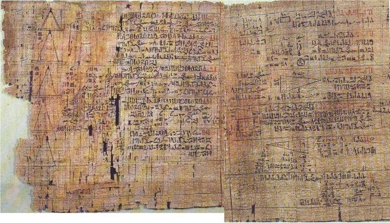 Папирус математических расчетов Ахмеса