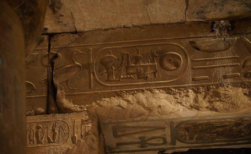 Странные барельефы в храме фараона Сети I