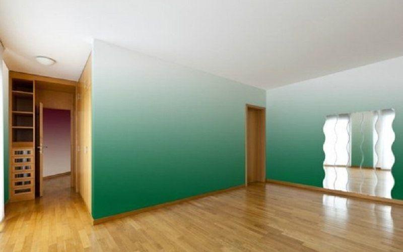 Способ декоративной покраски стен - омбре