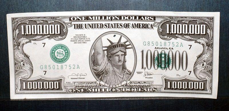 Купюра в 1 000 000 долларов США