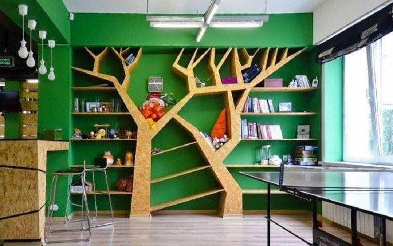 Книжная полка дерево