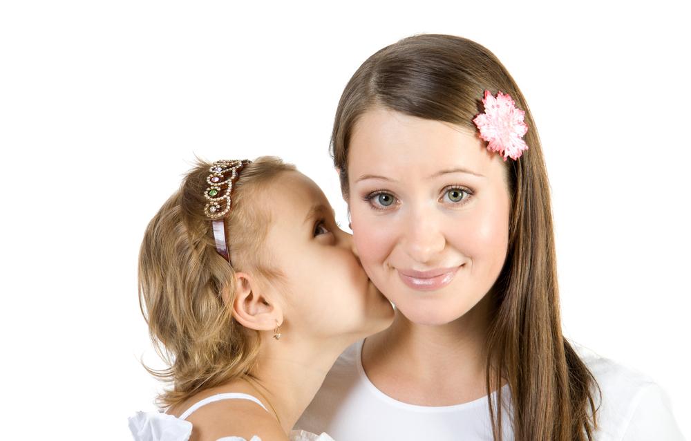 дочка с мамой